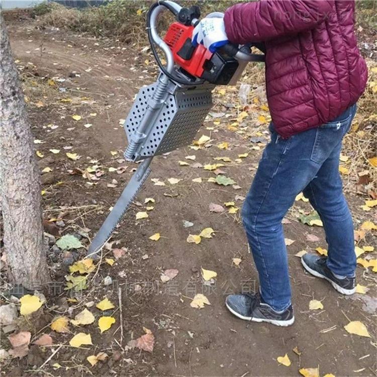 带土球移苗锯齿挖树机 树木挪动起树机